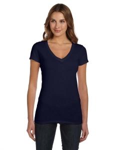 Custom Bella Ladies Tissue Jersey Short-sleeve Deep V-neck T-shirt