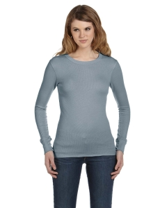 Custom Bella Ladies Thermal Long-sleeve T-shirt