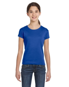 Custom Bella Girls Stretch Rib Short-sleeve T-shirt