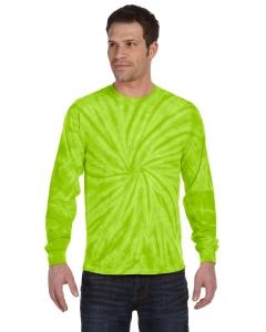 Custom Tie-dye 5.4 Oz., 100% Cotton Long-sleeve Tie-dyed T-shirt