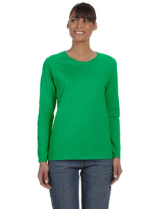Custom Gildan Heavy Cotton™ Ladies 5.3 Oz. Missy Fit Long-sleeve
