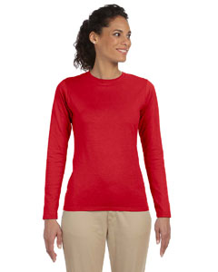 Custom Gildan Softstyle® Ladies 4.5 Oz. Junior Fit Long-sleeve T-sh