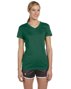 Custom Russell Athletic Ladies Dri-power® V-neck T-shirt