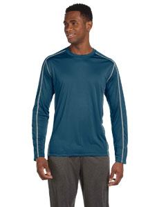 Alo Sport Mens Long-Sleeve Interlock Pieced T-Shirt