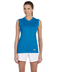 Custom New Balance Ladies Ndurance® Athletic V-neck  Workout T-shir