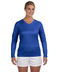 Custom New Balance Ladies Ndurance® Athletic Long-sleeve V-neck T-s
