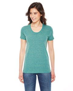 Custom American Apparel Ladies Triblend Short-sleeve Track T-shirt