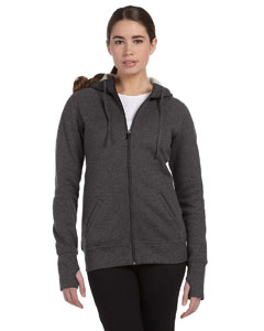 Custom Alo Sport Ladies Performance Fleece Full-zip Hoodie With Runners