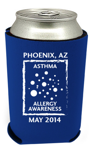 Asthma and Allergy Awareness Koozie 2