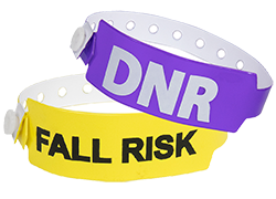 Custom Medical Alert Wide Vinyl Wristbands