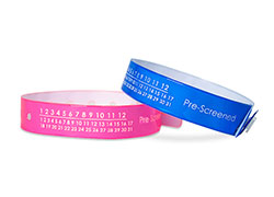 Medical Pre-Screened Calendar Vinyl Wristbands