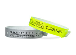 Medical Screened Calendar Vinyl Wristbands