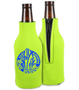 Custom Zippered Bottle Koozies