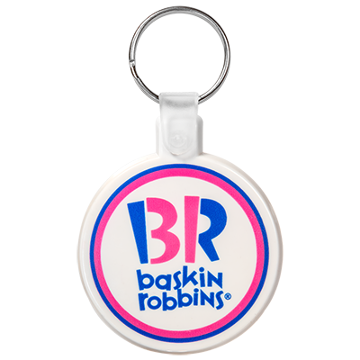 Custom Circle Soft Plastic Keychains