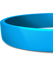 3/4 Inch Blank Silicone Wristbands