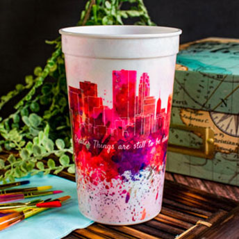 Custom 22oz Full Color Stadium Cups