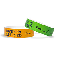 COVID-19 Screened Tyvek Wristbands