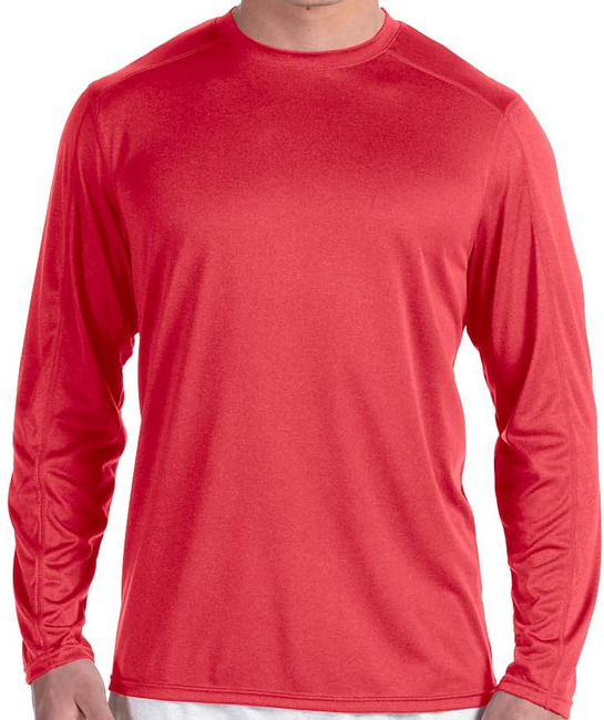 2b457cdd Champion Vapor® 4 Oz. Long-Sleeve T-Shirt · Ath Royal Hther · Black Heather  · Navy Heather · Scarlet Heather ...
