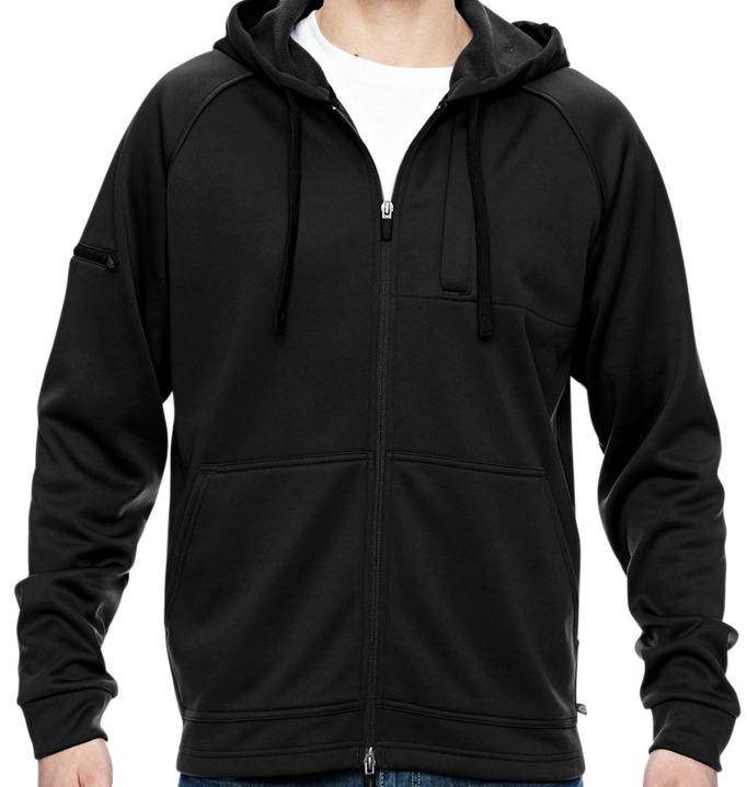 Midnight XL Dickies Mens Tactical Full Zip Bonded Fleece Hoodie