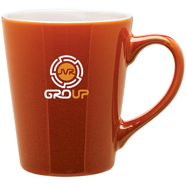 Carlo Glossy Two Tone Latte Mug- 12 oz.