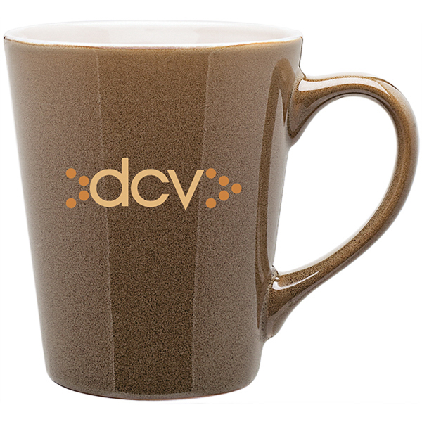 Carlo Glossy Two Tone Latte Mug- 12 oz.