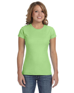 Bella Ladies Stretch Rib Short-sleeve T-shirt