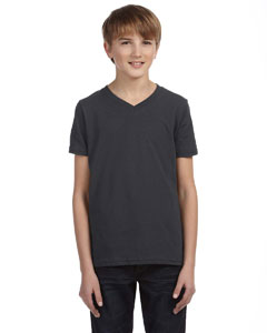 Bella Youth Jersey Short-sleeve V-neck T-shirt