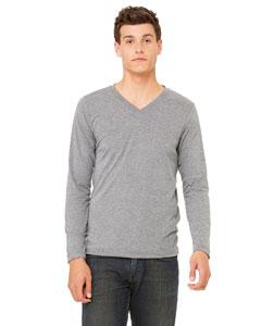 Bella Unisex Jersey Long-sleeve V-neck T-shirt