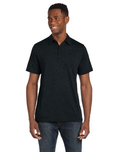Bella Mens Jersey Short-sleeve Five-button Polo