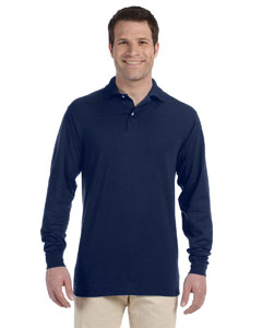Jerzees 5.6 Oz., 50/50 Long-sleeve Jersey Polo With Spotshield&t