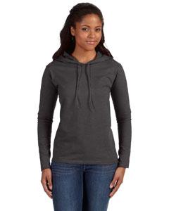 Anvil Ladies Lightweight Long-sleeve Hooded T-shirt