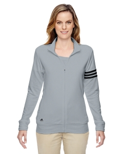 Adidas Golf Ladies Climalite® 3-stripes Full-zip Jacket