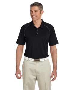 Adidas Golf Mens Climalite® Piped Colorblock Polo