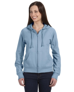 Bella Ladies Fleece Full-zip Raglan Hoodie