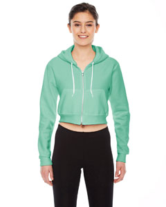 American Apparel Ladies Cropped Flex Fleece Zip Hoodie