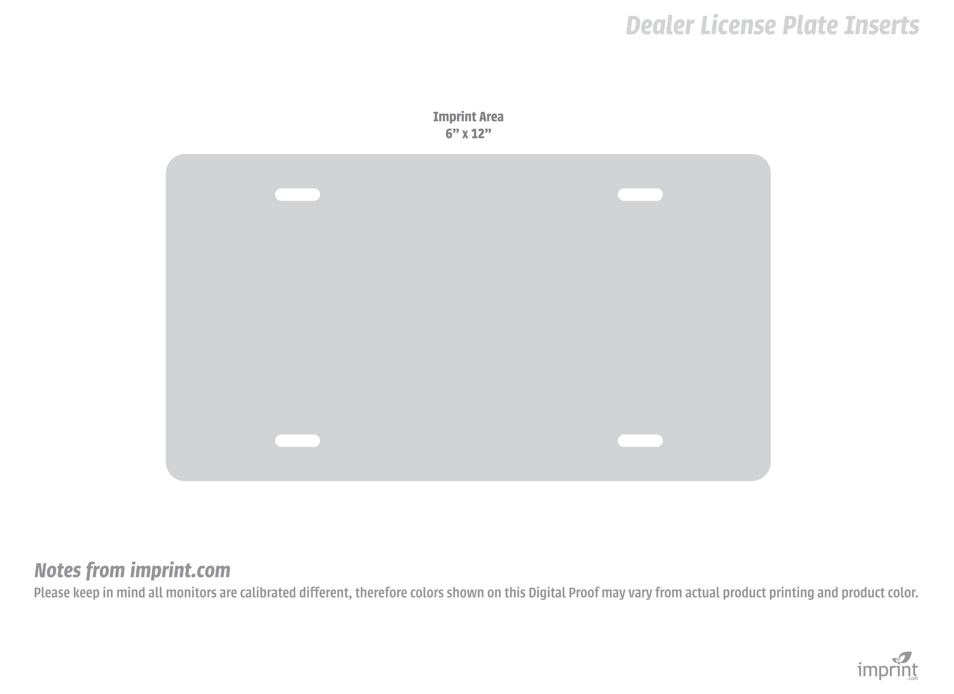 Dealer License Plate Inserts Download