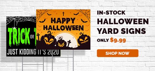 In Stock Halloween Yard Signs