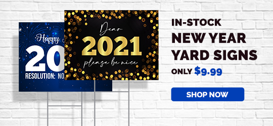 In Stock New Year Yard Signs