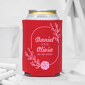 Custom Wedding Can Coolers