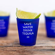 1.75oz Frosted Blue Shot Glasses