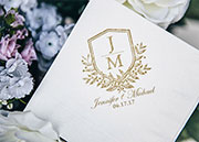 Custom Wedding Themed Napkins