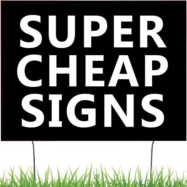 "Custom 18"" x 24"" Yard Signs"